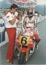 Colin Davies on the start line with Niall Mackenzie. Yugoslavia 1989
