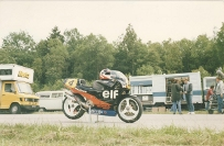 Ron Haslam's 1988 ELF Honda, Colin Davies was one of the mechanics